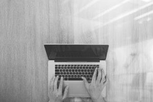 Websites on laptop