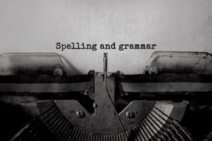 Spelling and grammar graphic
